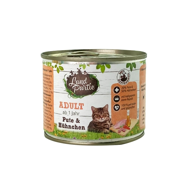 LandPartie田園派對-成貓罐-雞肉+火雞肉 200g 1
