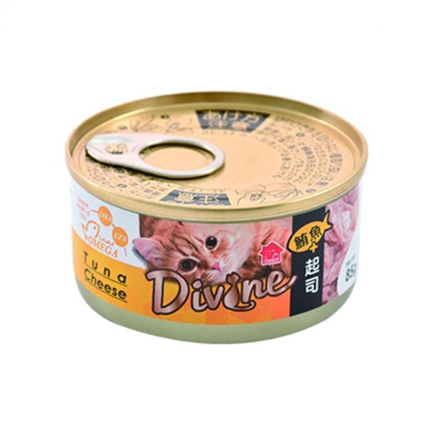 沛奇-海味饗宴貓餐罐2號(鮪魚+起司)(湯罐)85g 1