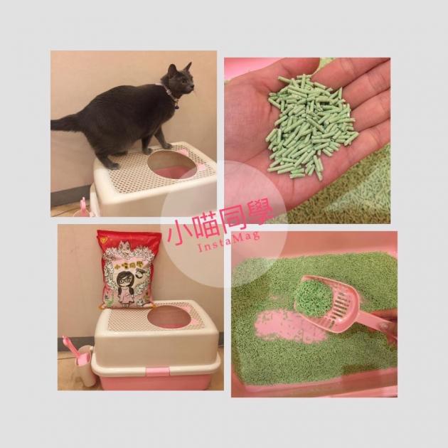 上開口式貓砂盆+2包小喵同學 1