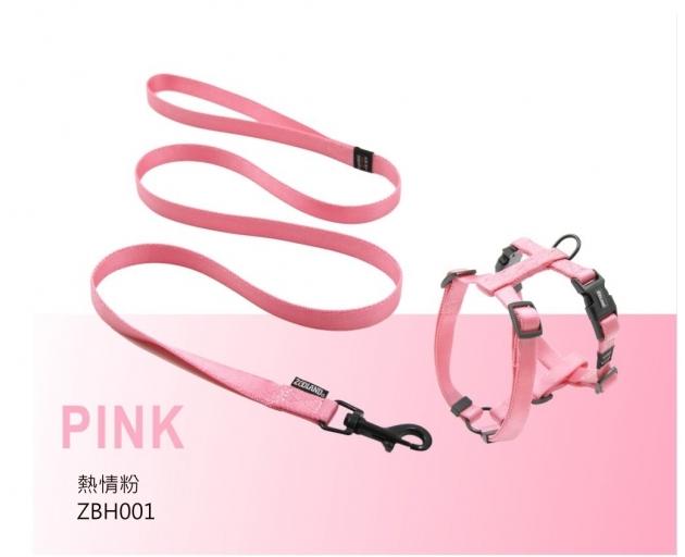 ZOOLAND 牽繩+胸背組(粉) 1