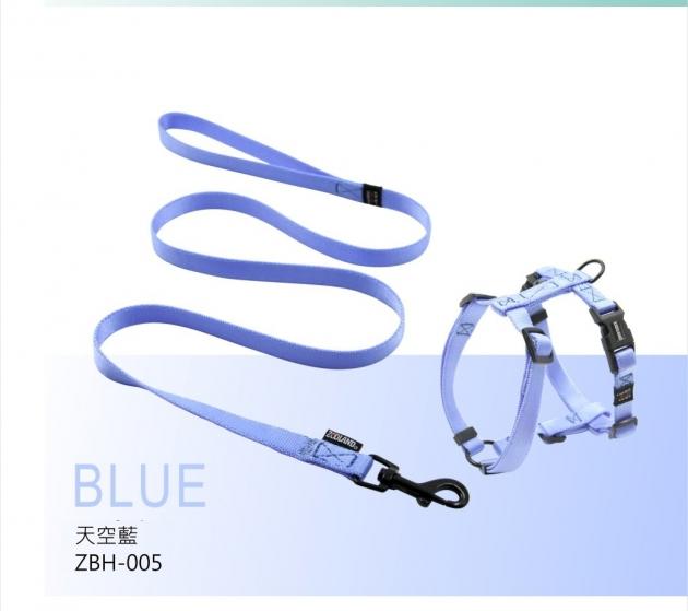 ZOOLAND 牽繩+胸背組(藍) 1